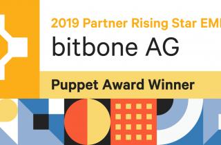 Auszeichnung als Partner Rising Star EMEA von Puppet