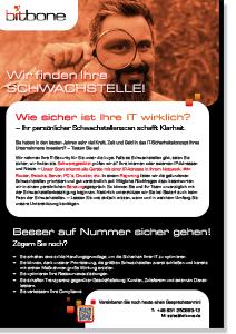 Flyer Schwachstellenscan als pdf zum Download